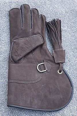 Nubuck Leather Falconry Glove, Double Layer. Inside Pvc Lining. Medium Only.