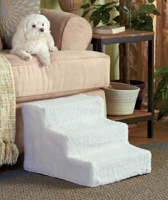 The Lakeside Collection Sherpa Covered Pet Steps