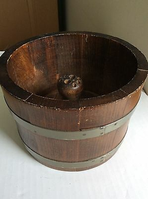 ~Vintage: Wooden Bucket / Nut Holder / Serving Bowl | Basketville Putney Vermont