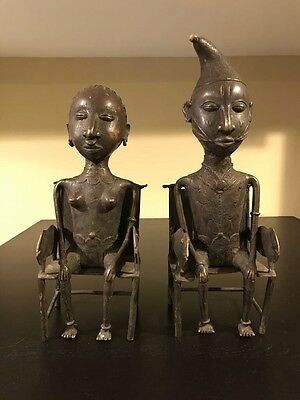 Antique bronze cast of Oba and his Queen excavated from western part of Nigeria