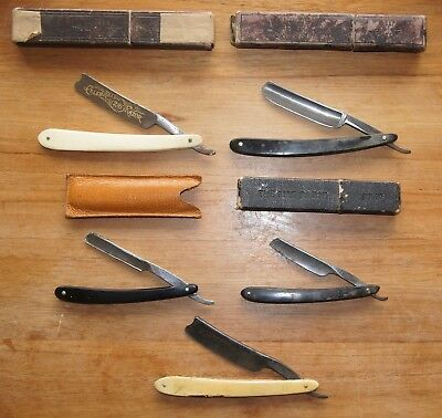 Job Lot Antique & Vintage Cut Throat Straight Razors - Joseph Rodgers Mab etc