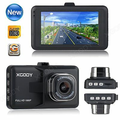 New 3'' Full HD 1080P Car DVR Vehicle Video Dash Cam Recorder Dashboard Camera