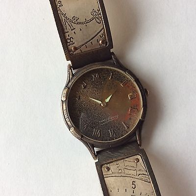 ~Limited Edition Watch Craft Round Face Metal Watch Designer   Hand Crafted Orig