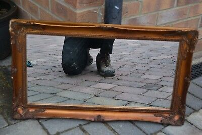 """Vintage Style Ornate Framed Mirror - 27 x 16"""" - collect CO9 Essex"""