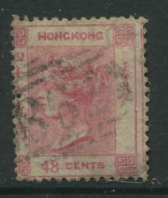 Hong Kong QV 1863 48 cents rose carmine used