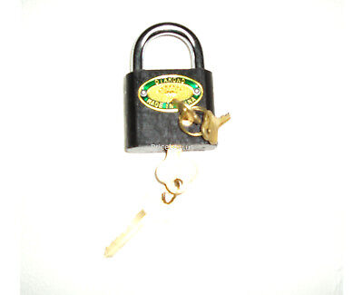 Unique Double Cylinder Padlock-Requires Two Keys To Open