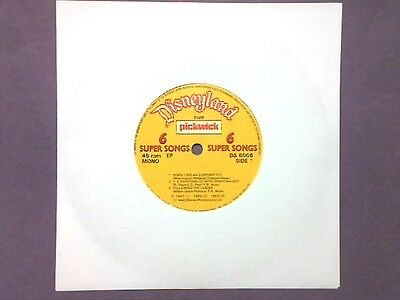 "Disneyland - Disney 6 Super Songs - When I See An Elephant Fly (7"" EP) DS 6006"