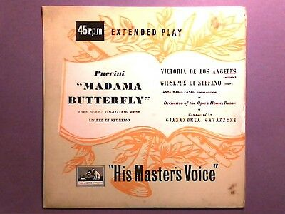 "Puccini - Gavazzeni - Madama Butterfly (7"" single) picture sleeve 7ER 5045"