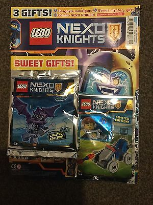 LEGO NEXO KNIGHTS MAGAZINE ISSUE 16 FREE LIMITED EDITION GARGOYLE FIG Cover 3