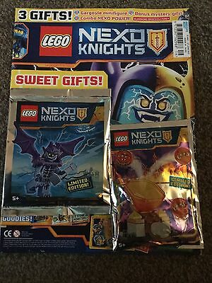 LEGO NEXO KNIGHTS MAGAZINE ISSUE 16 FREE LIMITED EDITION GARGOYLE FIG Cover 1