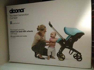 Doona Infant Car Seat With Wheels With Base - Grey With Extras!