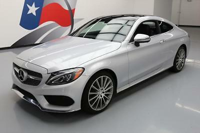 2017 Mercedes-Benz C-Class Base Coupe 2-Door 2017 MERCEDES-BENZ C300 COUPE SPORT PANO ROOF NAV 5K 5K #416195 Texas Direct