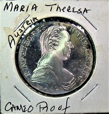 Ms Uncirculated Austria Maria Theresa Silver Cameo Proof 1780-X Date As Seen