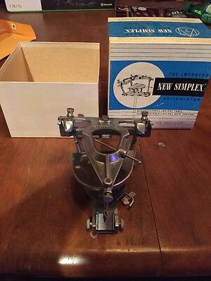 NEW SIMPLEX Dental ARTICULATOR W/ ADJ. INCISAL TABLE AND INSTRUCTIONS