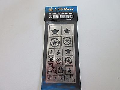 Lion Roar Photo-etched Detailing Set 1/35 WWII Marks for U.S.Military Vehicle