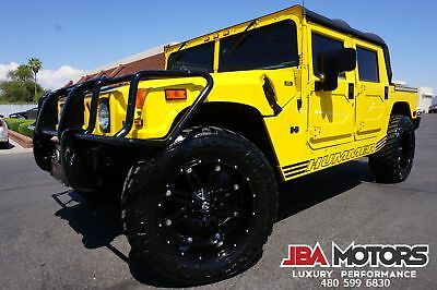 2002 Hummer H1 2002 H1 Open Top Diesel AM General OPENTOP 02 Yellow Hummer H1 Open Top Diesel like 1997 1998 1999 2000 2001 2003 2004 2006