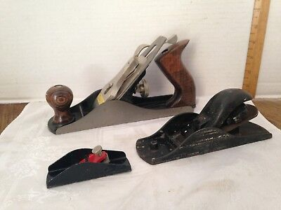 3 Stanley Bench Planes~No. 4 / H101P / 1 Unmarked