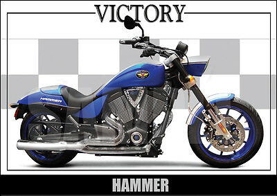 Victory Hammer S Laminated Motorcycle Print /  Motorcycle Poster