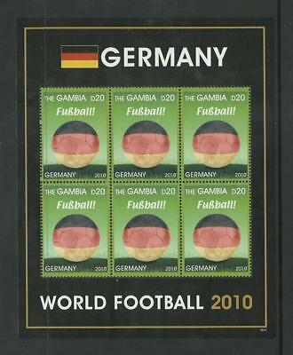 Gambia MNH 2010 Football World Cup Germany M/S
