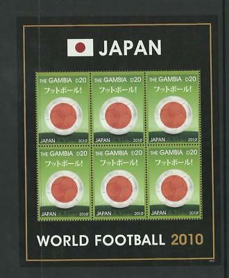 Gambia MNH 2010 Football World Cup Japan M/S