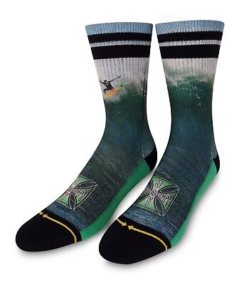 Merge 4 Jay Moriarity Classic Crew Sock JM1113 Green *New*
