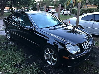 2007 Mercedes-Benz C-Class C230 SPORT BLACK GREY LOW MILE SOUTHERN FLORIDA DING/DENT/CORROSION FREE GARAGE KEPT