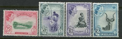 Swaziland QEII 1961 mint o.g. 4 values 25 cents to 2 rands