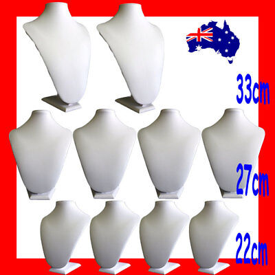 10X SUPER DEAL Padded FULL Ivory Leatherette Bust | Large | AUSSIE Seller