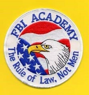 Fbi Academy The Rule Of Law Not Men Patch Limited!