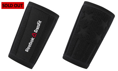 Reebok CrossFit Gym Fitness Arm Sleeve Wrist Sweat Band Black Small/Medium