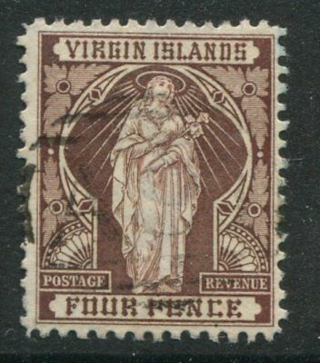 Virgin Islands QV 1899 4d chocolate used
