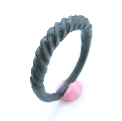 Ancient Twisted Bronze Finger Ring (MAY86)
