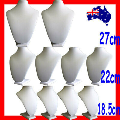 10X Necklace Bust-FULL Leatherette Padded-IVORY | Super Deal | AUSSIE Seller