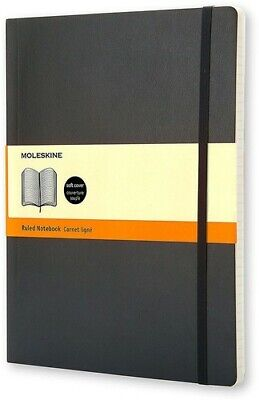 Moleskine Classic Notebook, Extra Large, Ruled, Black, Softcover (7.5 x 10) [New