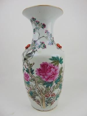 Antique Chinese Birds & Flowers Vase By Xu Pinheng, Early 20th C