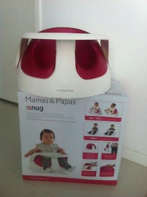 Mama and Papas pink baby snug baby chair