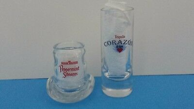 Shot Glasses - Hiram Walker 2 oz Cowboy Hat & Corazon de Agave Tequila