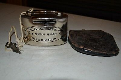Belleville State Bank with key Metal Bank and Purse
