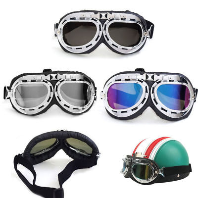 Vintage Aviator Pilot Bike Motorcycle Cycling Goggles Eyewear Glasses Windproof