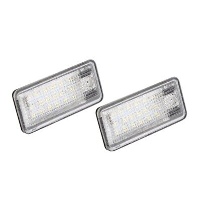 2x 18 LED License Number Plate Light Lamp For Audi A3 S3 A4 S4 B6 A6 S6 U2K8