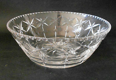 Stuart Lead Crystal Dessert Fruit Salad Serving Bowl 17.5Cm England