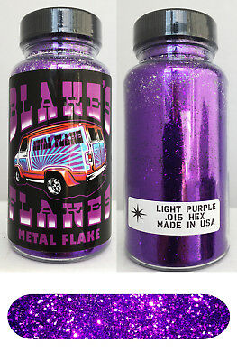 Blakes Metal Flake .015 Bright Light Purple Hot Rod custom automotive 2oz jar