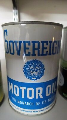 Sovereign Motor Oil One Quart Oil Can ***NICE ONE***