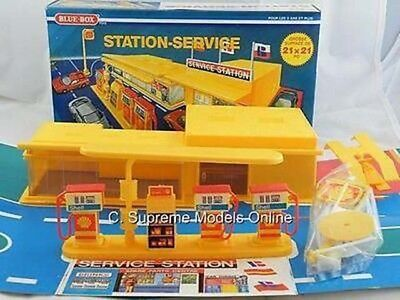 70's Old Stock Service Gas Station Petrol Blue Box Toys Example Pkd T3412Z -+-