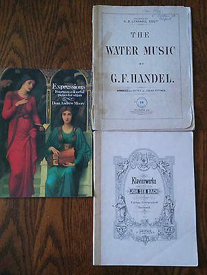 3 x Classical Sheet Music Books for Piano or Organ