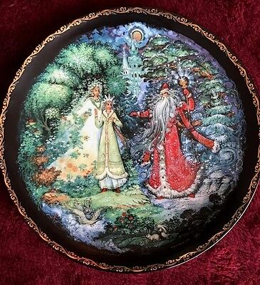 Snowmaiden With Spring And Winter Plate Russian Legends
