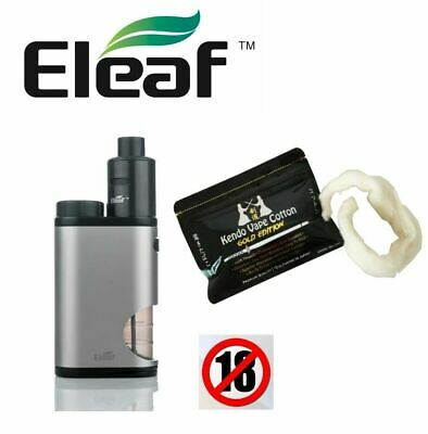KIT Eleaf Pico Squeeze con Coral RDA kit 50W Silver - Kendo Vape Gold Edition
