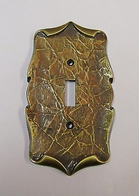 *** Vintage Amerock Carriage House Antique Brass Finish Light Switch Cover ***