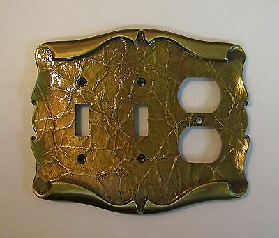 * Vintage Amerock Carriage House Antique Brass Finish Combo Switch Cover (NOS) *