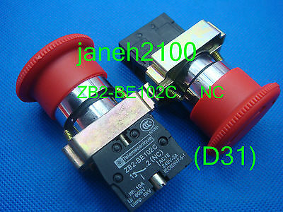 5pc Telemecanique ZB2-BE102 ZB2-BE102C  Emergency Stop NC button Switch
